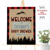 "Lumberjack Baby Shower Welcome Poster - 16""x20"""