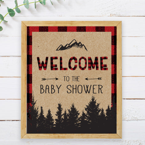 Lumberjack Welcome Sign Instant Download