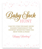 Pink Polka Baby Sock Hunt Game Sign