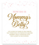 Pink Polka How Big is Mommy's Belly Game Sign