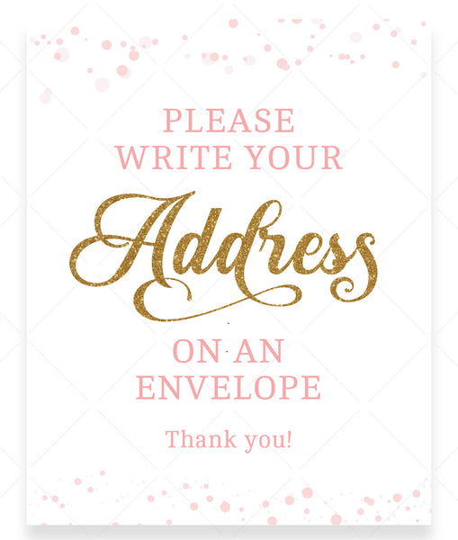 Pink Polka Address an Envelope Sign