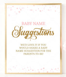 Pink Polka Baby Name Suggestions Sign