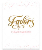 Pink Polka Favors Sign