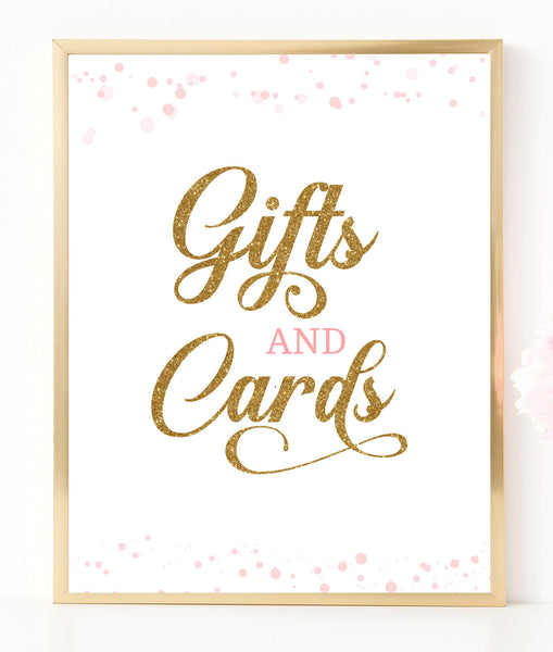 Pink Polka Gifts and Cards Sign