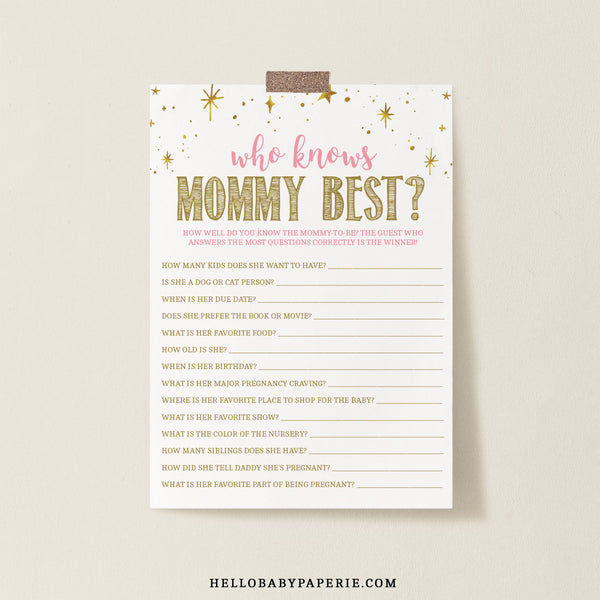 Twinkle Little Star Who Knows Mommy Best - Hello Baby Paperie