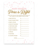 Pink Polka Price is Right Game Template - Hello Baby Paperie