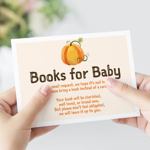 Pumpkin Books for Baby Card