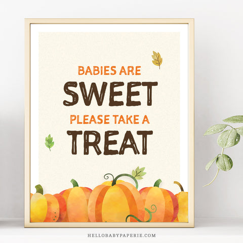 Pumpkin Babies are Sweet Sign