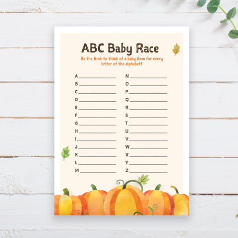 Pumpkin ABC Baby Item Race