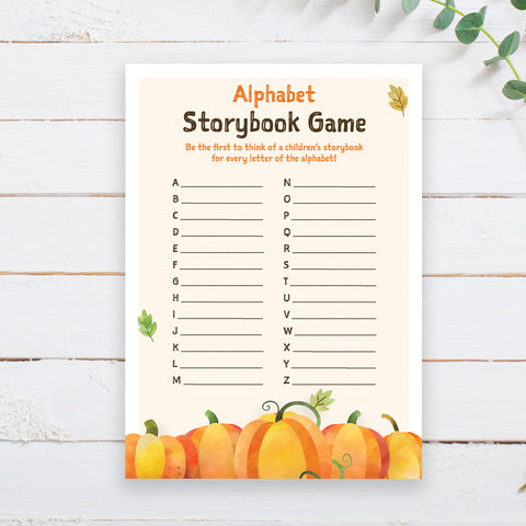Pumpkin Alphabet Storybook Game