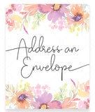 Pastel Floral Address an Envelope Sign Template