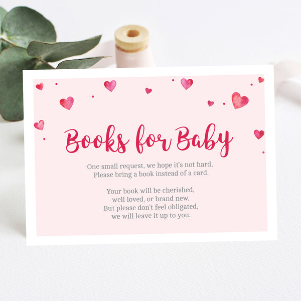 Pink Hearts Books for Baby Insert