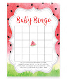 Watermelon Baby Bingo Game Template