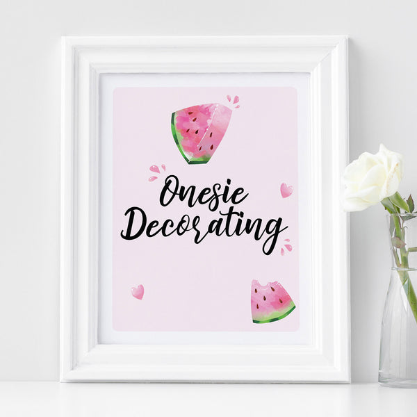 Watermelon Onesie Decorating Sign - Hello Baby Paperie