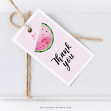 Watermelon Thank You Tag