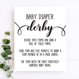 Rustic Kraft Diaper Derby Game Sign Template