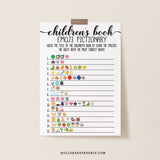 Rustic Kraft Children's Book Emoji Game Template