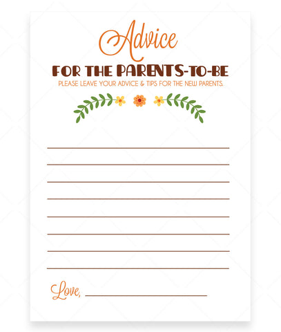 Woodland Trio Advice for Parents Card Template