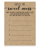Rustic Kraft Guess the Sweet Mess Game Template - Hello Baby Paperie