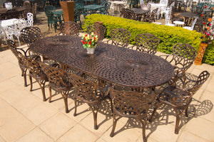 12 Seater Crystal Set with 325cmx125cm Oval Crystal Table