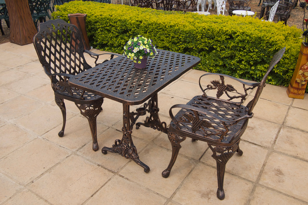 Two-Seater CapeGrape Set with 90cm x 50cm Tall CapeGrape Table