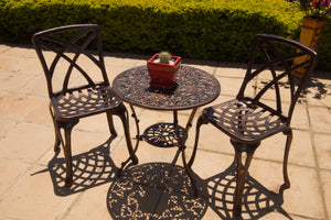 Two-Seater Willow (NO ARMS) Set with 62cm Round Ivy Table