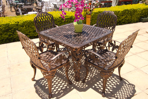 Four-Seater CapeGrape Set with 100cm Square CapeGrape Table