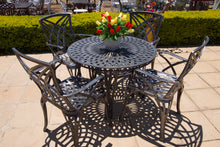 Load image into Gallery viewer, Four-Seater Willow Set with 100cm Round Crystal Table