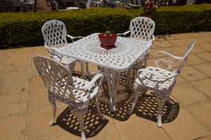 Four-Seater Small CapeGrape  Set with 85cm Square Crystal Table and Small Cape Grape Chairs