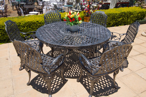 Six-Seater CapeGrape Set with 155cm Round CapeGrape Table