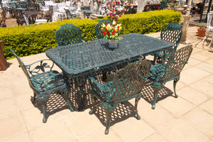 Six-Seater CapeGrape Set with 200cm Rectangular CapeGrape Table