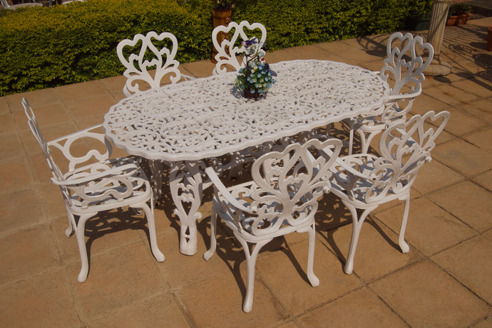 Six-Seater Newlands Set with 180cm Oval Egyptian Table