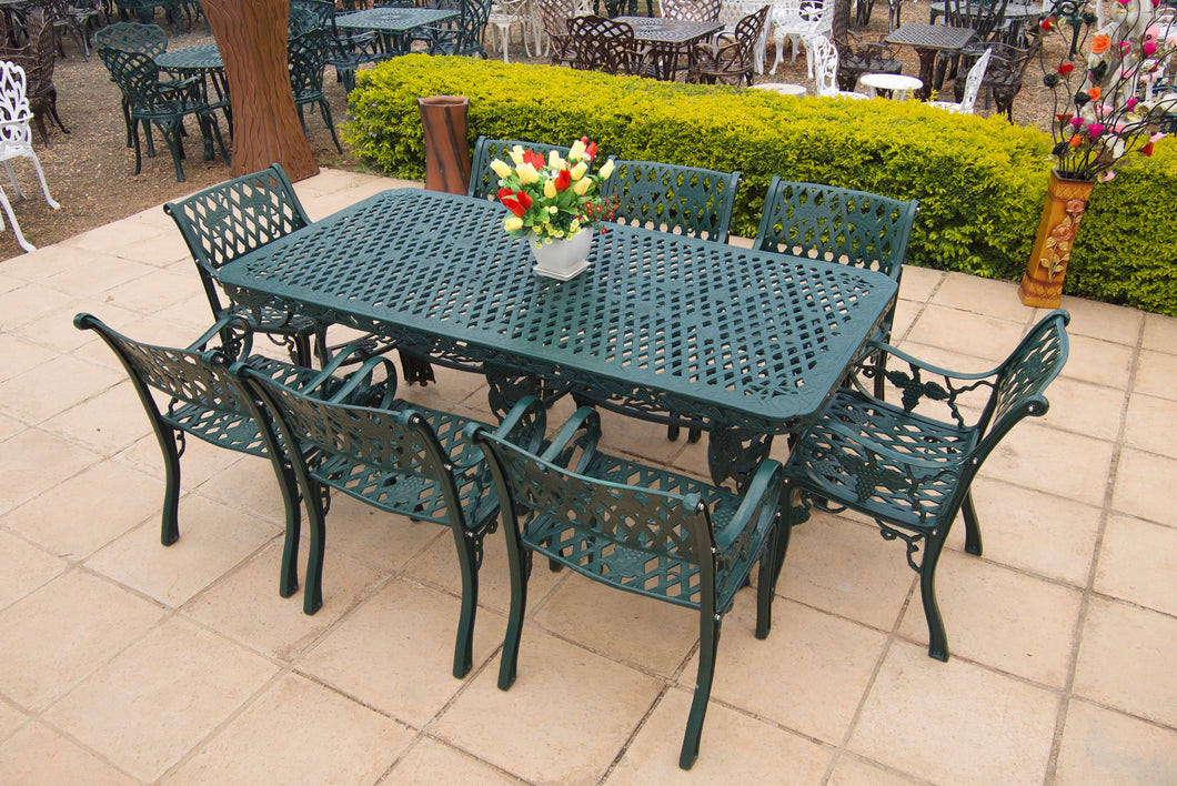 Eight-Seater Villa CapeGrape Set with 200cmx100cm Rectangular CapeGrape Table