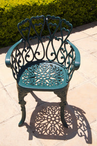 Two-Seater Petite Set with 62cm Round Ivy Table