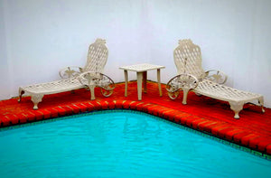 CapeGrape Pool Lounger Combo Set