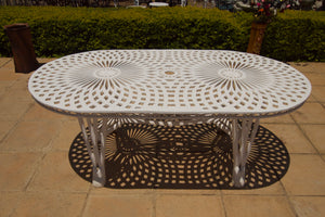 Six-Seater Crystal Set with 185cm Oval Crystal Table