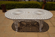 Load image into Gallery viewer, Six-Seater Willow Set with 185cm Oval Crystal Table