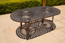Load image into Gallery viewer, Six-Seater Small Willow Set with 157cm Rectangular Crystal Table
