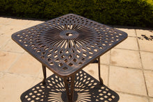 Load image into Gallery viewer, Four-Seater Small Willow (NO ARMS)  Set with 85cm Square Crystal Table