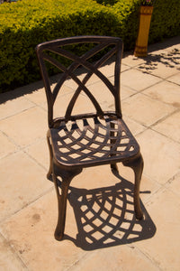 Four-Seater Small Willow (NO ARMS)  Set with 85cm Square Crystal Table