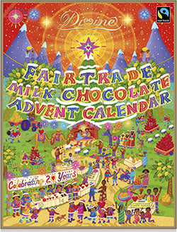 Get ready for Christmas with our Divine Advent calendar- ethical, Fairtrade, full of chocolate!