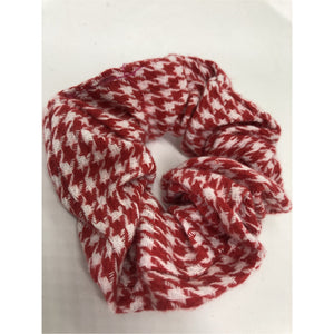 Red hound tooth Scrunchie