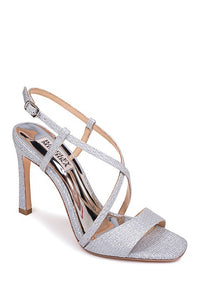 Badgley Mischka Ebiza Sparkly Block Heel Sandal - Bhe Accessories