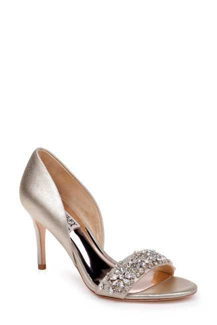Badgley Mischka Ivy Embellished Heel Sandal - Bhe Accessories