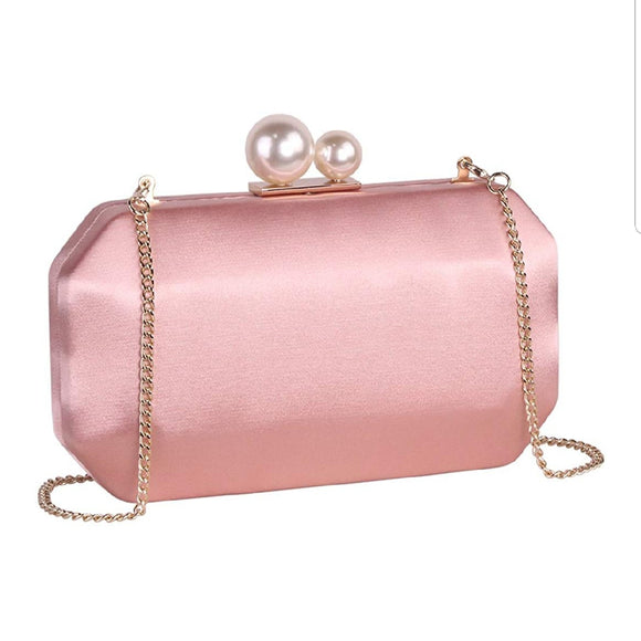Pink Squared Unique Design Clutch