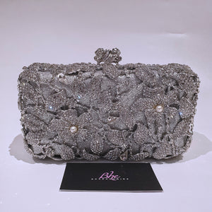 Silver Crystal Clutch - Bhe Accessories