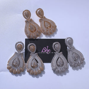 Statement Owambe Cubic Zirconia Party Earrings - Bhe Accessories