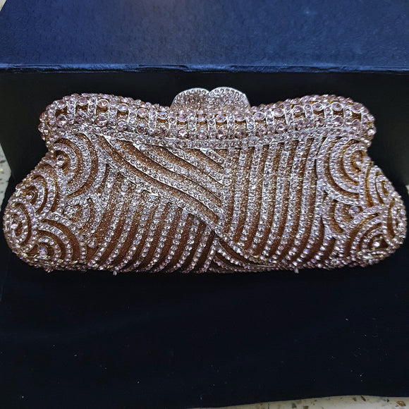 Rosegold Crystal Clutch - Bhe Accessories
