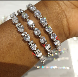 Clear Cubic Zirconia Silver Bracelet - Bhe Accessories