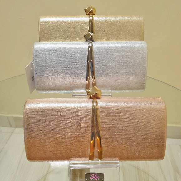 Knot Detail Clutch Purse in Silver, Gold and Rosegold - Bhe Accessories
